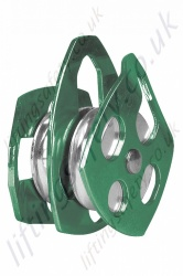 "Protecta ""AG572/1"" Twin Sheave Aluminium Pulley for Height Safety Applications with Swivel Side Plates for Synthetic Ropes to maximum Diameter 16mm"