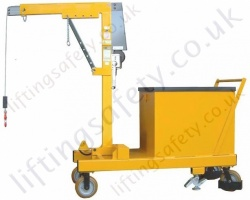 MANUAL - Rigid Arm Counterbalance Workshop Floor Crane With Hand Winch Lifting, Hand Lift &Travel, Many Options Inc 30 Degree Rotation