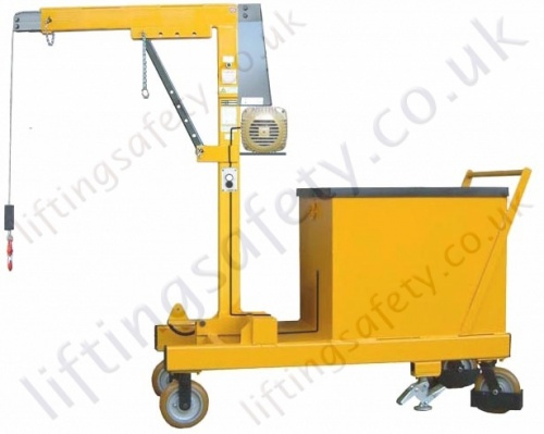 Push Travel Counterbalance Floor Crane with Electric Winch