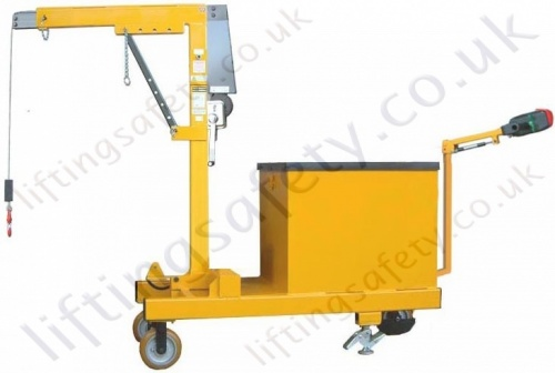 Power Drive Counterbalance Floor Crane with hand winch