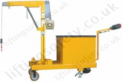 POWERED - Rigid Arm Counterbalance Workshop Floor Crane, Hand or Powered Lift &Travel. Many options Inc 30 degree Rotation.