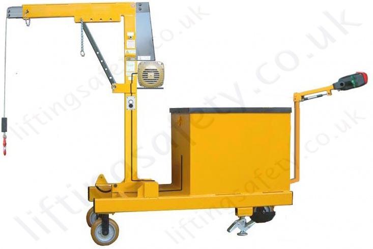 Custom Lifting Arms : Powered rigid arm counterbalance workshop floor crane