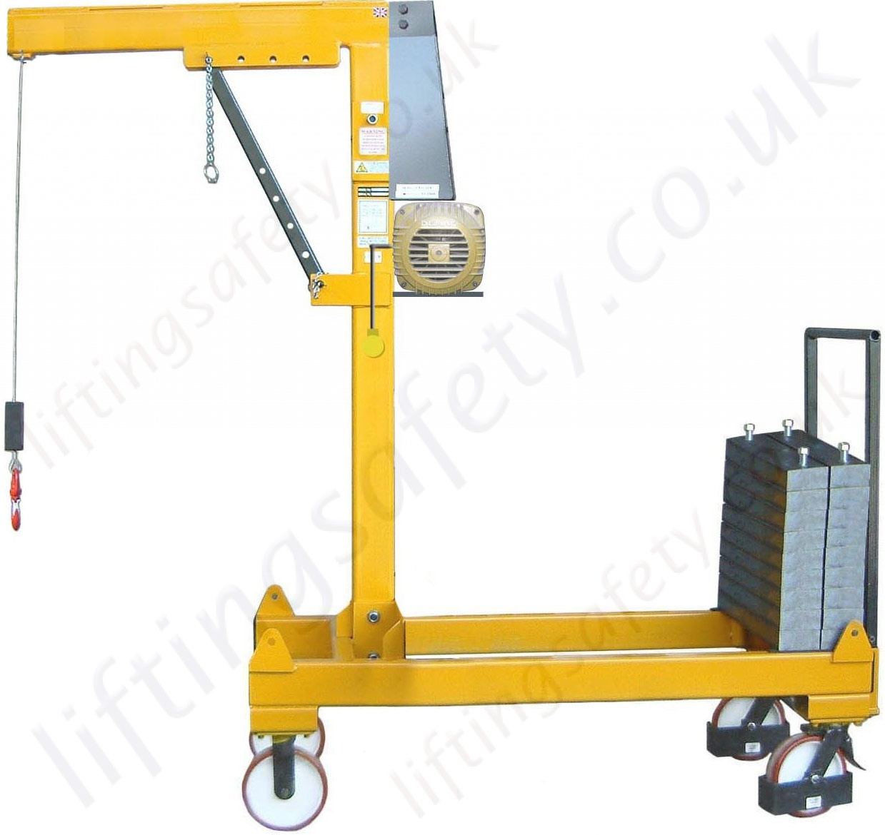 Safety Lifting Arms : Manual or powered rigid arm knock down counterbalance