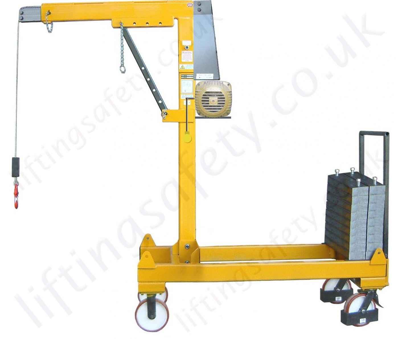 Steel Lift Arm : Manual or powered rigid arm knock down counterbalance