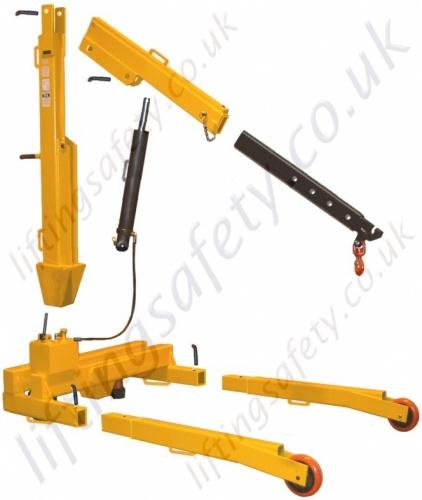 Knock-down Fixed Leg Floor Crane