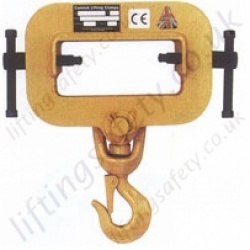Camlok TZH Single Tine Forklift Fork Tine Mounted Hook  to Convert a Forklift Truck into a Crane - Range From 1500kg to 10000kg