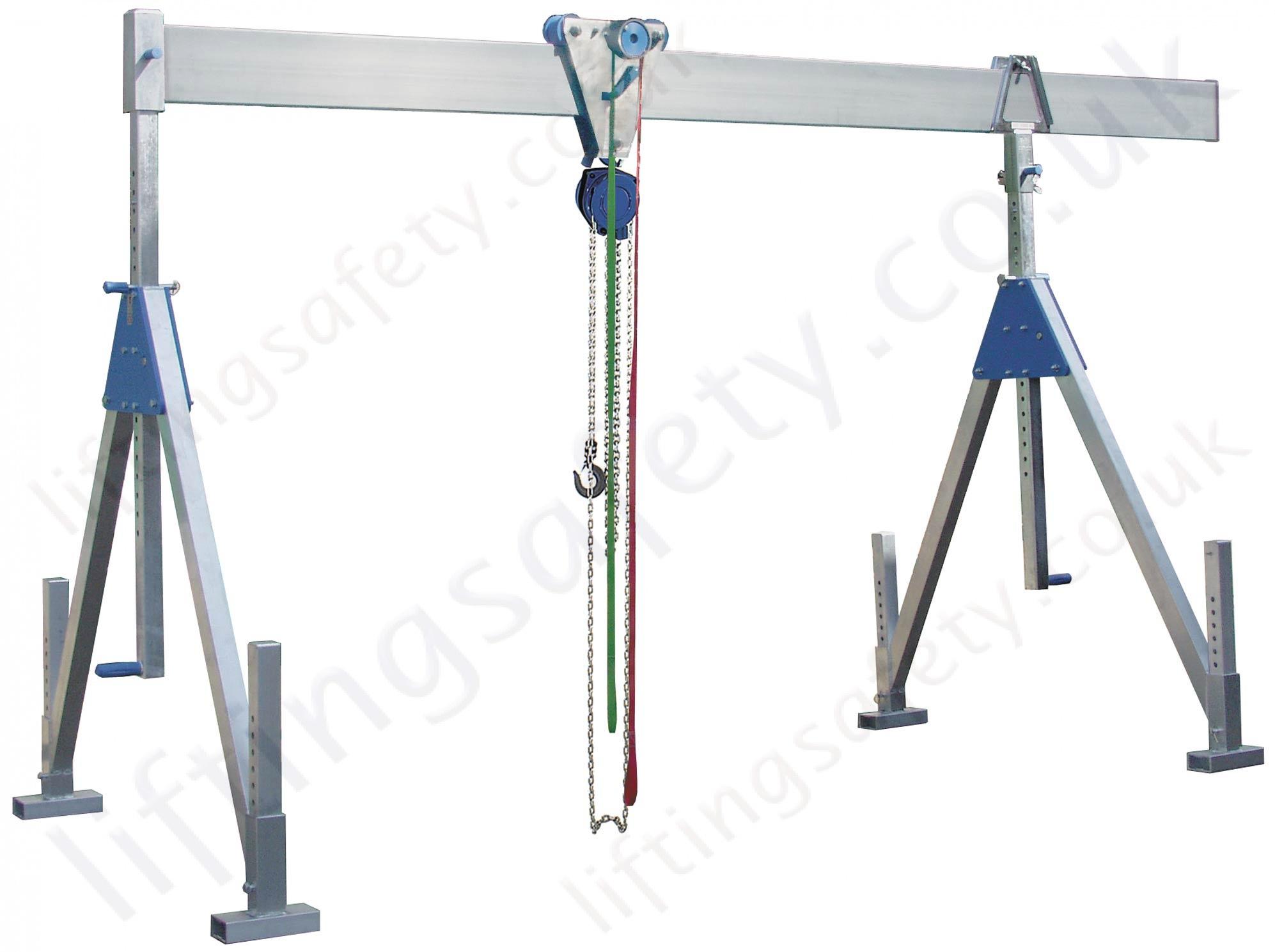 Mobile Gantry Crane Uk : Fully adjustable aluminium lifting gantry crane with