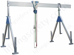 Fully Adjustable Aluminium Lifting Gantry Crane with Adjustable Feet, 1000kg or 1500kg (small, medium or high, 24 options)