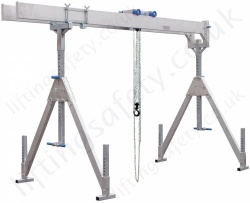 Alloy Gantry 'A' Frame with Twin Parallel Top Beams and Adjustable Feet, 1000kg or 1500kg (small, medium or high, 30 options)