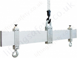 "LiftingSafety 2 Point Adjustable Length Lightweight ""Aluminium"" Lifting Beams - 1000kg, 2000kg or 3000kg"
