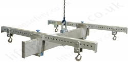 Adjustable Lightweight 'H' Shape Aluminium 4 Point lifting Beam - 1000kg to 3000kg