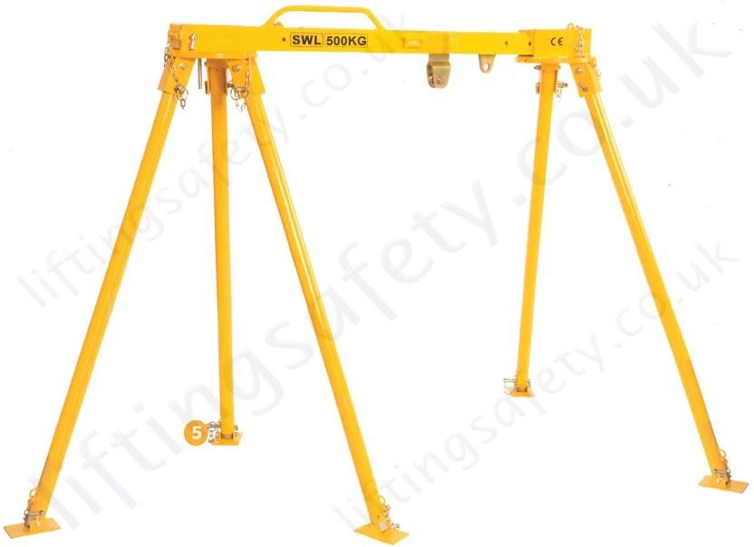 Tripod Crane Hoist : Liftingsafety alloy gantry crane tripod combo certified