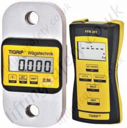 Yale TZR Load indicator / Load Cell with Radio Remote Handset, Large 20.5mm LCD Display c/w case - Range from 1000kg to 20,000kg