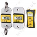 Load indicator / Load Cell with Radio Remote Handset, Large 20.5mm LCD Display c/w case - Range from 1000kg to 100,000kg