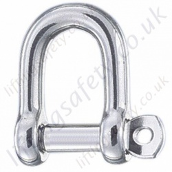 "Stainless Steel ""D"" Shackles, Screw Pin Dee Shackle - Range from 1000kg to 6300kg"