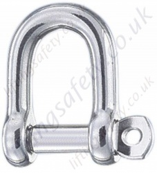 Stainless Steel D (Dee) Shackle