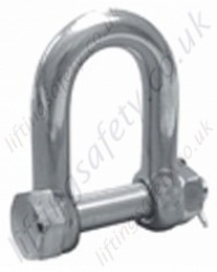Stainless Safety Pin D Shackle
