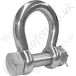 Stainless Safety Pin Bow Shackle