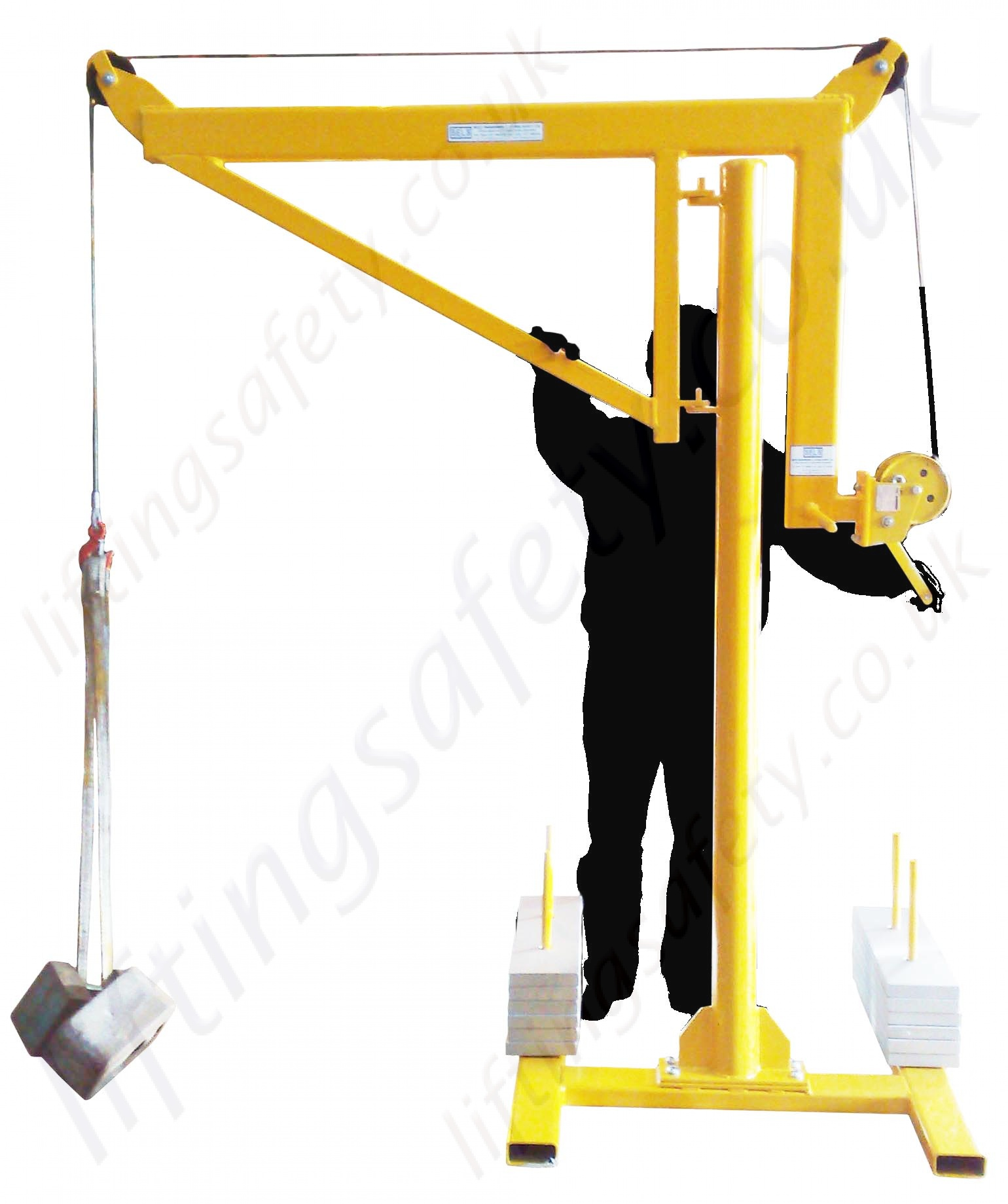 Swing Arm Hoist Mount : Portable counterbalance free standing davit arm swing