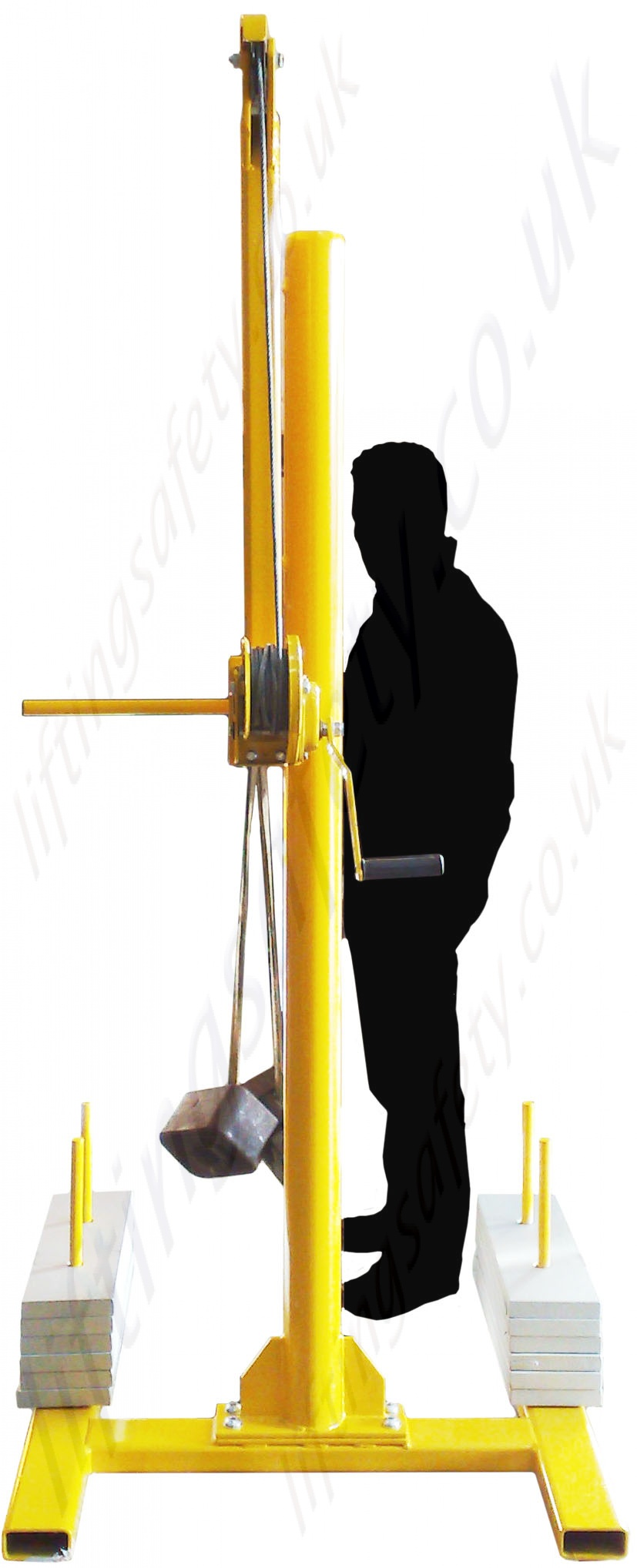 Safety Lifting Arms : Portable counterbalance free standing davit arm swing