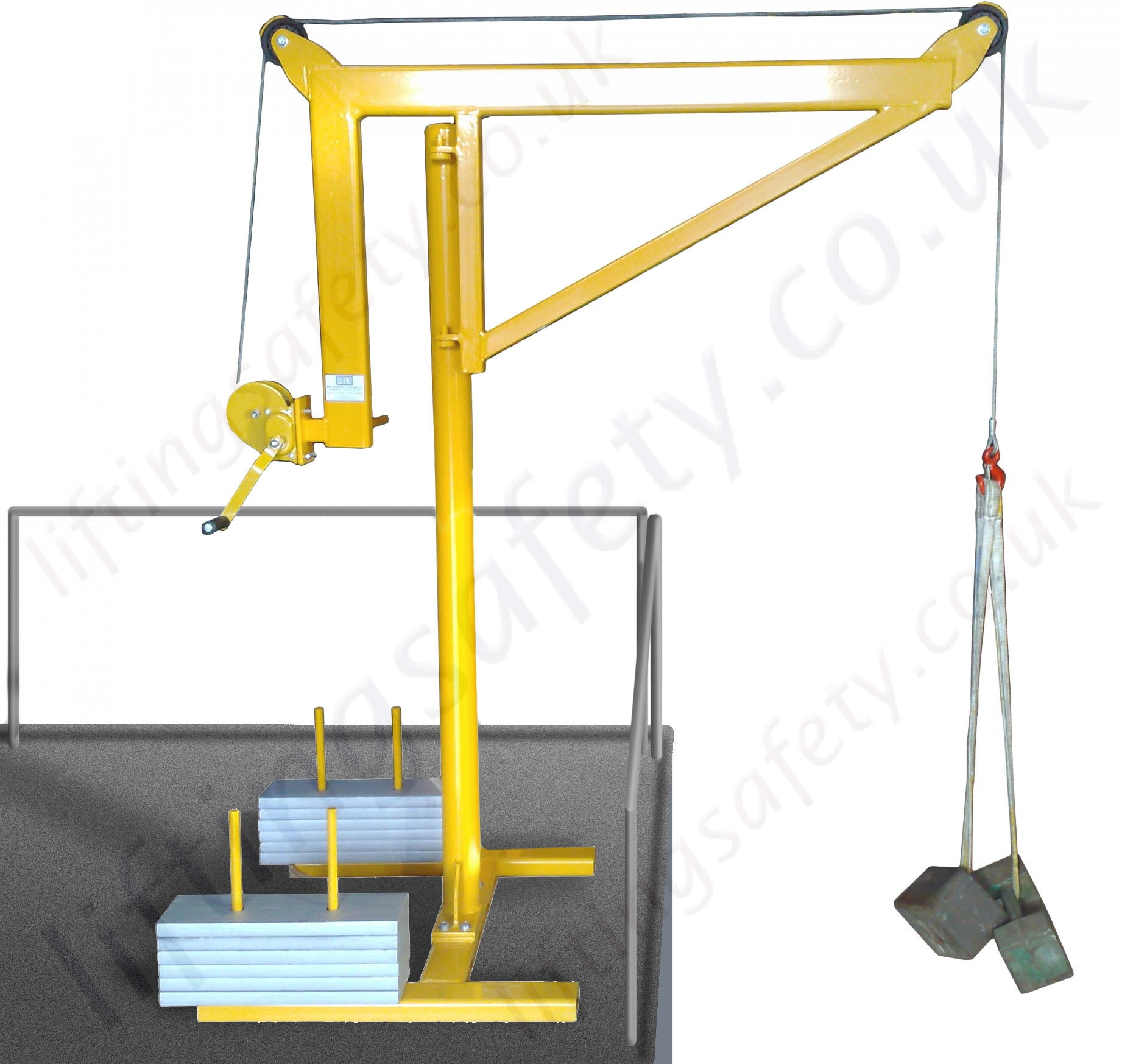 Portable Counterbalance Free Standing Davit Arm Swing