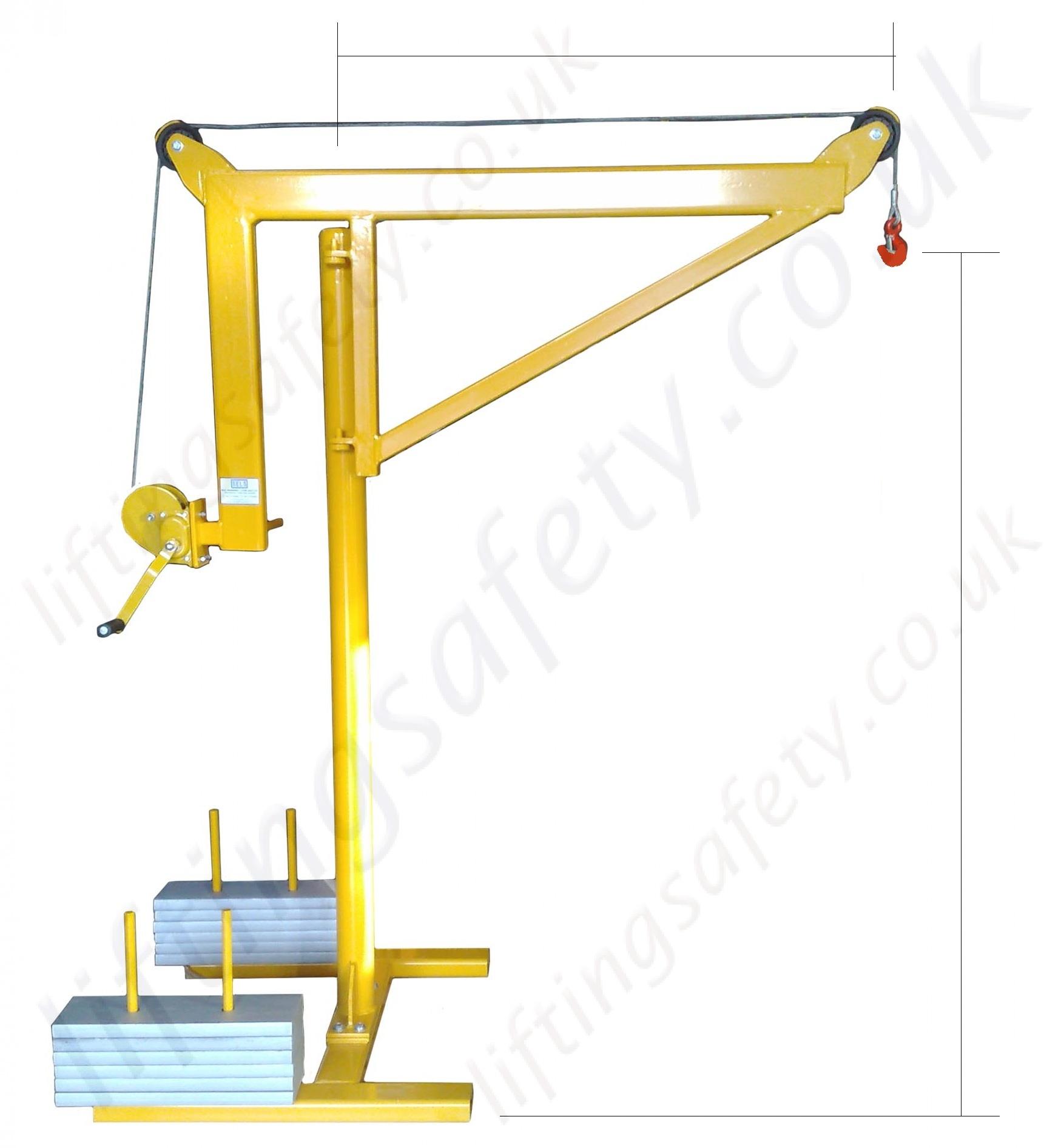 Portable Counterbalance Free Standing Davit Arm Swing