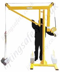 Portable Counterbalance Free Standing Davit Arm / Swing Jib Crane 50kg or 125kg
