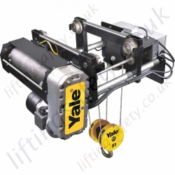 "Yale ""YGK-E"" Wire Rope Hoist (Monorail Overhead Crane Hoist) - Range from 1600kg to 15000kg"