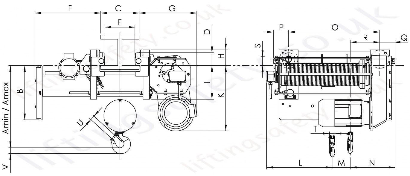 Yale Type E Electric Motor Wiring Data Schema Crane Diagram Quot Ygk Wire Rope Hoist Monorail Overhead 3 Phase Diagrams