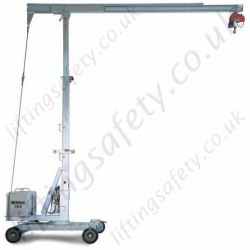 Portable Mini Cranes, 360 Degree Rotation, 6m HOL and 5 metre Reach - 500kg SWL (Many options)