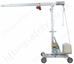 Portable Mini Cranes, 360 Degree Rotation, 5 metre Reach and Upto 6m Hook Height, 400kg Capacity