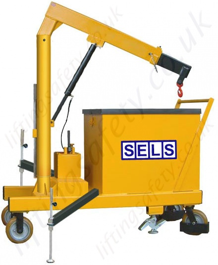 Safety Lifting Arms : Manual or powered degree slew pivoting arm rigid