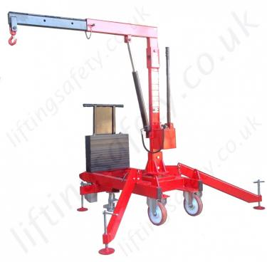 90 Degree Knock-Down 360 Pivot Arm Riggers Counterweight