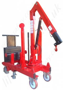 Stored Knock-Down 360 Pivot Arm Riggers Counterweight