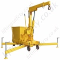 MANUAL OR POWERED - 360 degree Slew Pivoting Arm  / Rigid Arm Counterbalance Floor Crane, Hand or Power Lift & Travel. Many options.