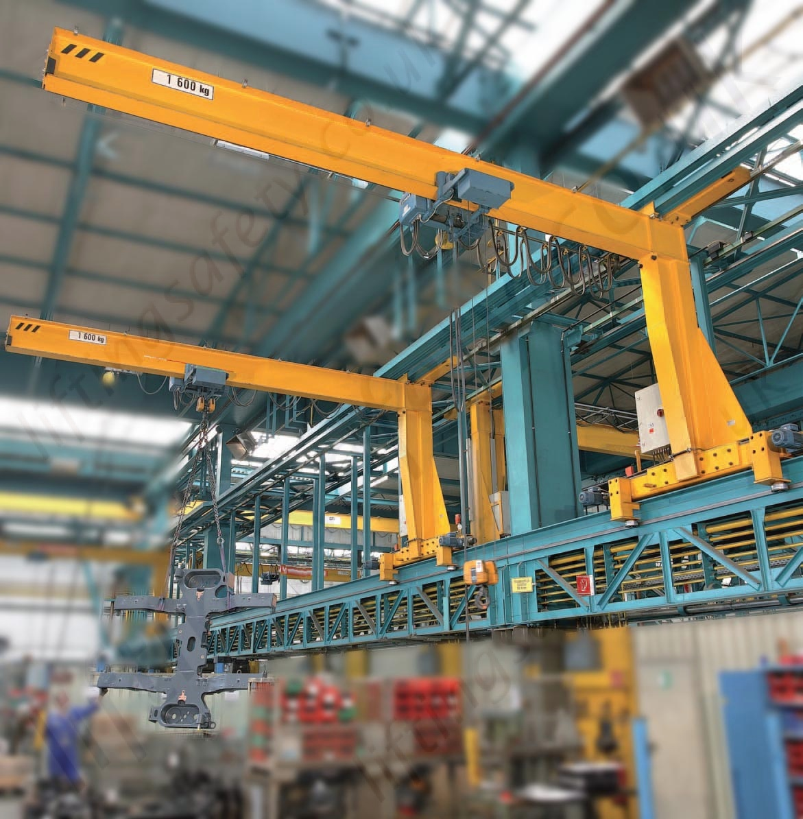 Overhead Crane 500kg : Wall mounted overhead travelling crane kg to
