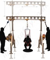 LiftingSafety Man-riding, Fall Arrest, Rescue and Materials Gantry System - Lightweight Aluminium, portable and adjustable (500kg For Materials)