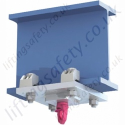 LiftingSafety Low Head Room Temporary or Permanent Swivel Eyebolt Lifting Point - Max Capacity 7,000kg