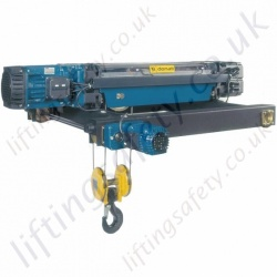 "Donati ""DRH"" Overhead Crane Hoist, Monorail, Low Headroom and Double Girder Options- Range from 0.8 to 40 tonne"