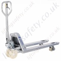 Pfaff Stainless or Galvanized Steel Pallet Truck. Forks 1150mm x 540mm - 2000kg or 2500kg (2 options)