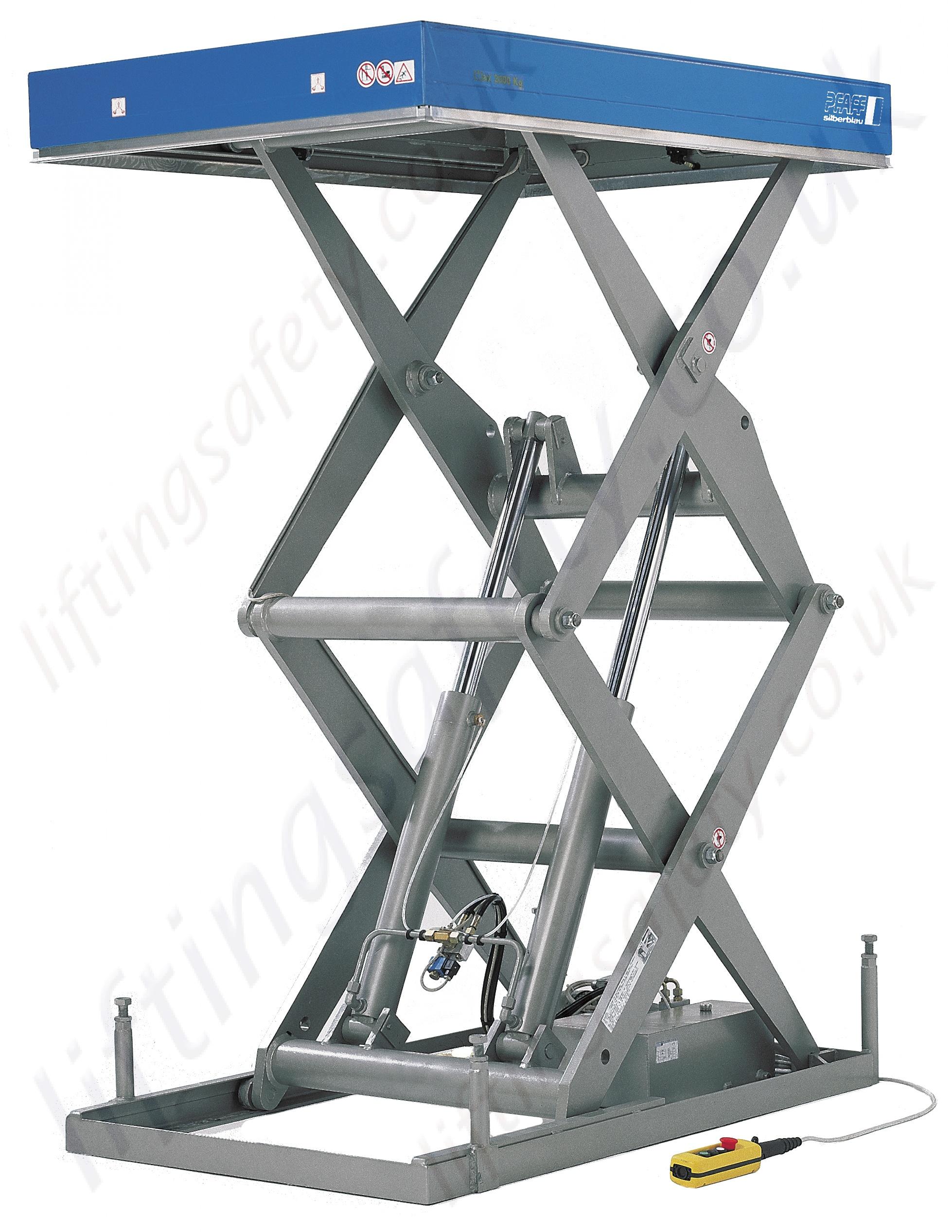 Pfaff Static Hta D Electric Lift Table 1000kg To 3000kg Lifting Capacities 1500mm 1800mm