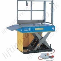 "Pfaff Static Electric ""Loading Platform"" Scissor Lifting Table - 2000kg to 5000kg Lifting Capacities, 1600mm Lifting Height (8 Options)"