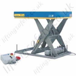 Pfaff Static Electric Scissor Lifting Table - 500kg to 2000kg Lifting Capacities, 800mm - 1300mm Lifting Height (20 Options)