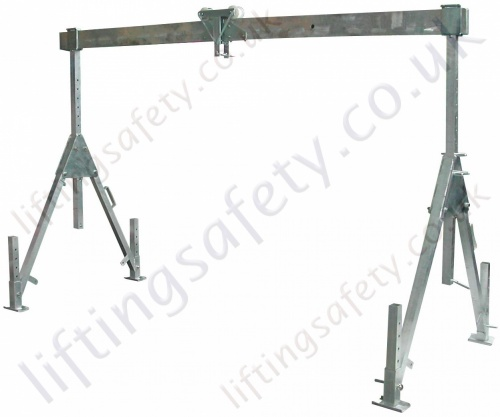 Folding Aluminium Gantry, Fully Adjustable with Folding Top Beam ...