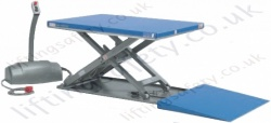 "Pfaff Static ""Drive-Up"" Low Height Electric Scissor Lift Table (Closed Height 82-92mm) - 500kg - 1500kg Lifting Capacities, 750mm - 780mm Lifting Height (12 Options)"