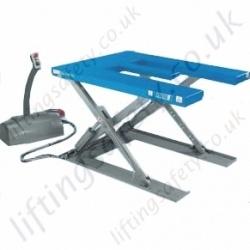 "Pfaff ""E Shape"" Low Height Electric Scissor Lifting Table for Loading By Pallet trucks, 1000kg to 1500kg Lifting Capacities, 750mm - 780mm Lifting Height (4 Options)"
