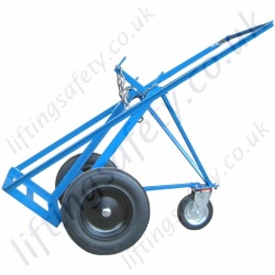 "Two Cylinder Oxy-acetylene Gas Cylinder Push Trolley With ""Rear Wheel"". For Cyl 1 x 250mm and 1 x 300mm Dia - 200kg"