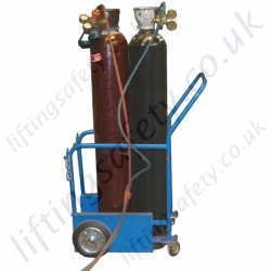 Confined Space Oxy-acetylene Gas Welders Push Trolley For Two Cylinders - 200kg