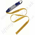 SALA Webbing Energy Absorbing Fall Arrest Lanyard With Choice of Scaffold Hook or Snap Hook - 1.25m or 1.75m