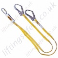 "Miller ""ME05"" Twin Leg Fall Arrest Lanyard with Scaffold Hooks - 2 Metre"